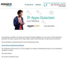 Amazon Students 5 Euro Gutschein für Apps, Games etc.