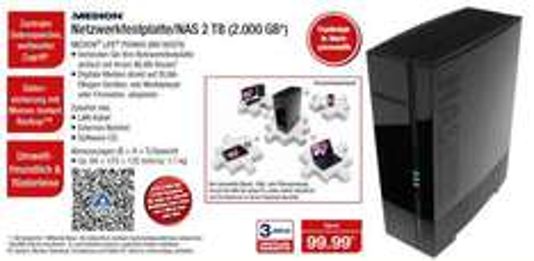 2TB NAS Medion Life P89660 (MD86979) bei Aldi-Nord