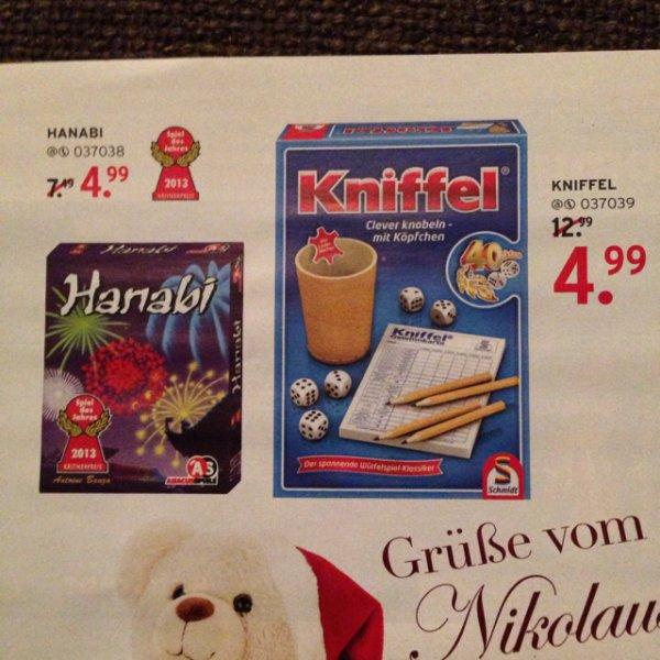 Spiele Hanabi und Kniffel günstig bei Karstadt