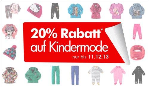 20% Rabatt auf Kinder- und Babymode auch auf Sale Artikel bei mytoys.de & 4% Qipu