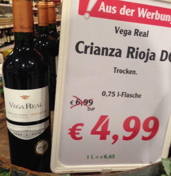 [lokal] Vega Real Crianza 2008, Mundus Vini Gold, Globus Ludwigshafen