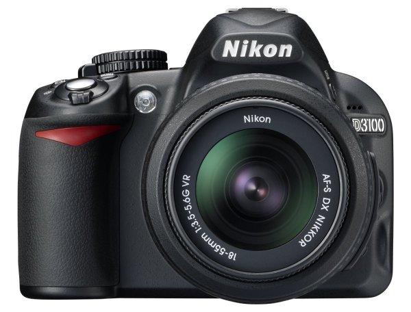 Nikon D3100 SLR-Digitalkamera Kit inkl. AF-S DX 18-55 VR Objektiv schwarz für 279€