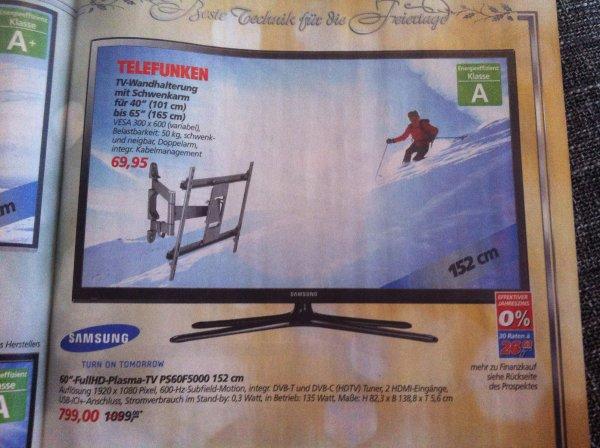[Bundesweit?/Offline] REAL Samsung PS60F5000 152 cm Plasma-TV