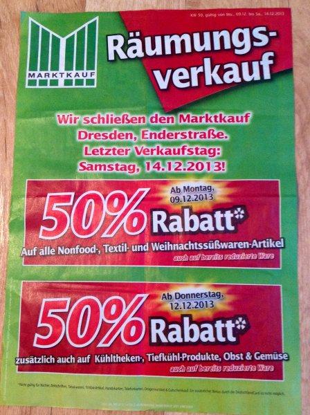 50% RABATT AUF ALLES MARKTKAUF DRESDEN (Lokal)