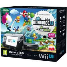 Amazon Wii U Mario + Luigi Bundle + Rayman Legends für 282,97