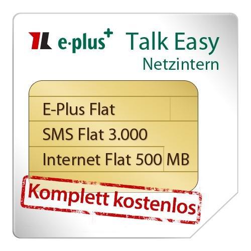 Datenblatt Talkline E-Plus Talk Easy Netzintern - Komplett Kostenlos