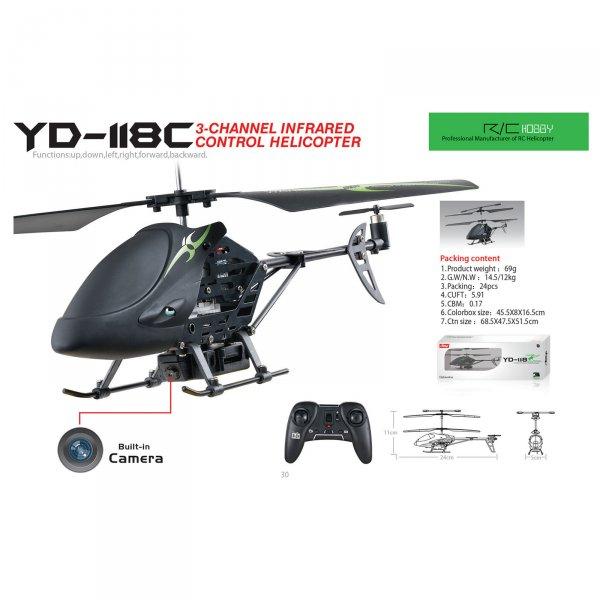 Attop Infrarot Helikopter / Spyheli mit eingebautem Gyroskop + Kamera