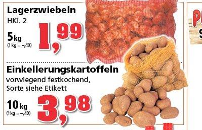 Ab Montag 9.12. bei Philipps Thomas Kartoffel 10kg  für 3.98€ oder Zwiebel 5kg für 1,99€