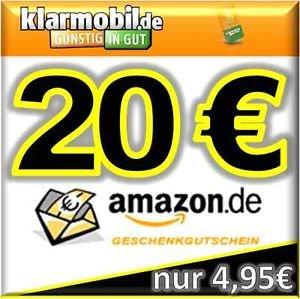 klarmobil SIM-Karte + 20,00€ AMAZON Gutschein kostenlos / gratis