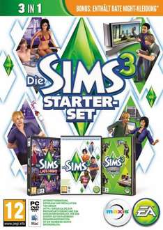 PC-Game: Die Sims 3 - Starter-Set (= Die Sims 3 + Late Night + Luxus Accessoires) 19,90€ ink. VSK