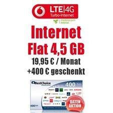 Vodafone Internet-Flat 4,5(3)Gb LTE + 400€ Geschenk