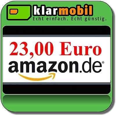 klarmobil SIM-Karte + 23,00€ AMAZON Gutschein kostenlos / gratis