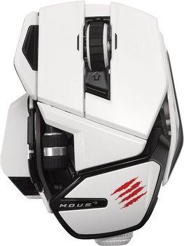 """Mad Catz Lasermaus 990 dpi """"M.O.U.S. 9 Wireless Mouse"""" (weiß/matt schwarz) für 74,85€ @"""