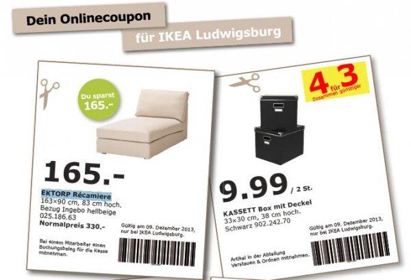 [Ikea Ludwigsburg] EKTORP Récamiere NP 330,- für 165,- mit Coupon