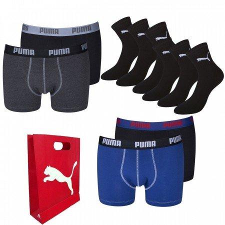 Puma Deal 4x Boxer + 6 Paar Socken mit Geschenktüte für 29,95€