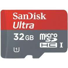 Sandisk™ - 32GB Mobile Ultra microSDHC Speicherkarte + SD-Adapter (Class 10 UHS-1) für ca. 17,50€ [amazon.com]