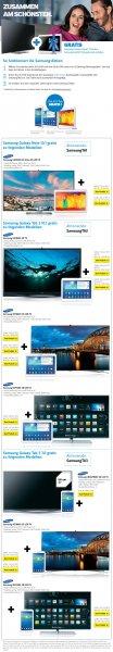 Samsung UE55F9090SLXZG +Samsung Galaxy Note 10.1 2014 WiFi 16GB & andere Bundles bei Conrad