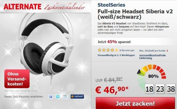 Zackventskalender - SteelSeries Full-size Headset v2 (weiß/schwarz)