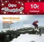 [Qipu] 10€ Cashback ab 30€ MBW bei SportScheck(nur heute)