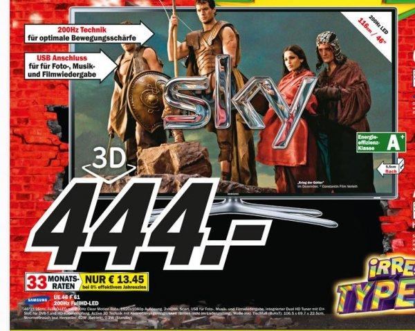 [Lokal MediaMarkt - Dortmund - Oespel  / InduPark] Samsung UE 46 F61 3D LED TV