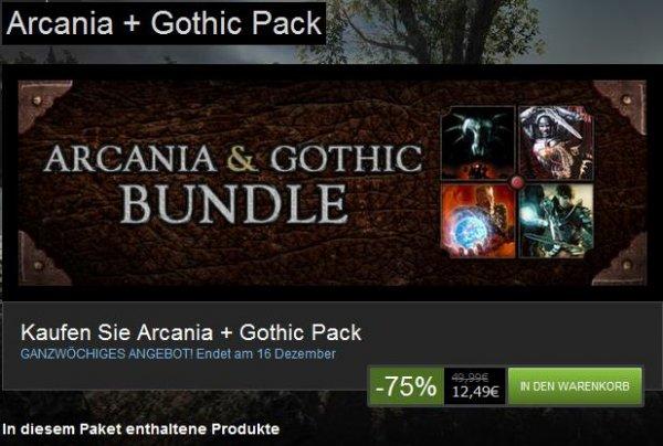 [STEAM] Arcania & Gothic Bundle /// Gothic 1-3 + AddOn(s) + Arcania + AddOn