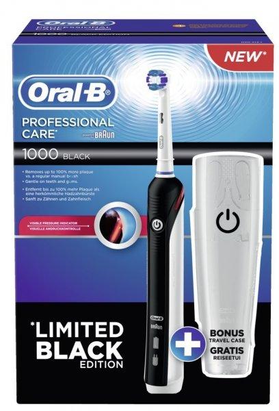 [Amazon] Braun Oral-B Professional Care 1000 Black + Reiseetui ~39€ [amazon.co.uk] ohne Etui ~30 €