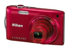 Nikon Coolpix S3300 Digital Camera 16MP, 6x Optical, 2.7 Inch LCD rot/blau, refurbished  [@ZAVVI]