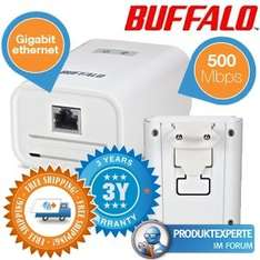 [ibood] Duopack Buffalo HomeAV 500Mbit Powerline-Adapter 29,95€