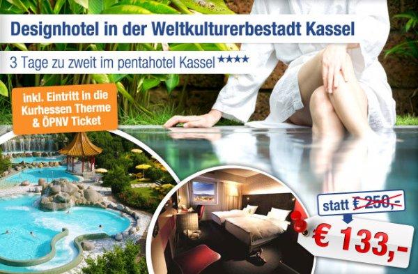 4-Sterne Designhotel Kassel inkl. Therme: 3 Tage zu zweit nur 133 statt 250 EUR