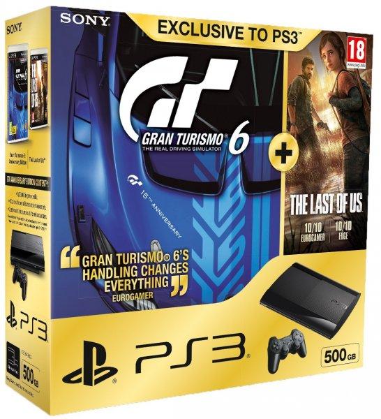 (PS3) Super slim 500GB + The Last of Us + Gran Turismo 6: Anniversary Edition für 243€ @Amazon.co.uk