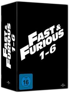 Fast & Furious 1-6 Collection Bluray Box [buecher.de] (40,99 Euro)