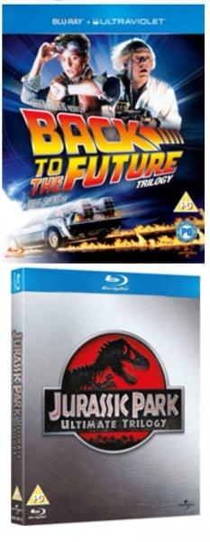Bluray Box-Sets je 10,75 € inkl. Versand: u.a. Zurück in die Zukunft Trilogie / Jurassic Park Trilogie / Jean Michel Cousteau 3D Trilogie / Bluray Starter Pack