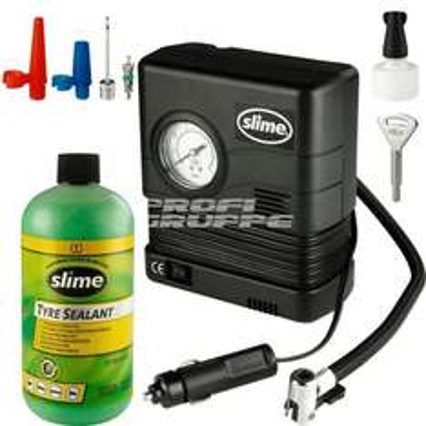 Reifen Pannenset incl. Kompressor Reifendichtmittel Tirefit Slime®