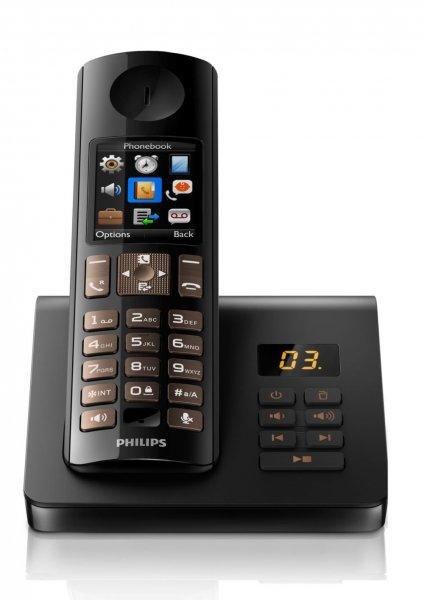 [WHD] Philips D7051B/38 Schnurloses Telefon DECT (Anrufbeantworter, Freisprecheinrichtung am Mobilteil, HQ-Sound) für 33,50€ (idealo: 57,42€)
