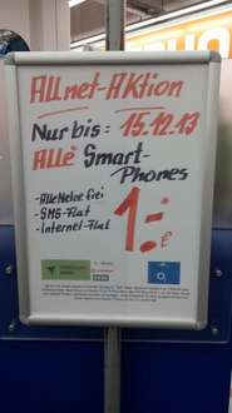 [Lokal: Saturn Oberhausen] Allnet Flat Netz mit aktuellen Smartphone nach Wahl