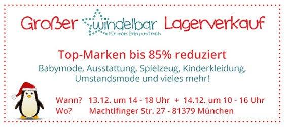 Lagerverkauf bei Windelbar in München - 13+14.12.2013 - Kilo-Verkauf: 15€ für jedes Kilo!