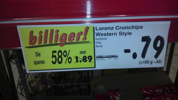 Kaufland Köln Mülheim, Lorenz Crunchips Western Style 58% billiger