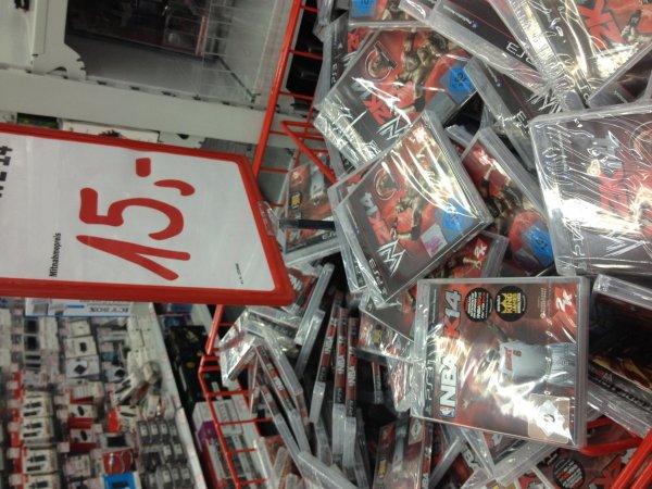 [Lokal] Mediamarkt Düsseldorfer Arkaden WWE 14 oder NBA 2k14 für PS3