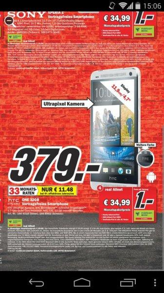 [Media Markt Erding] HTC One 32GB schwarz & weiß für 379€