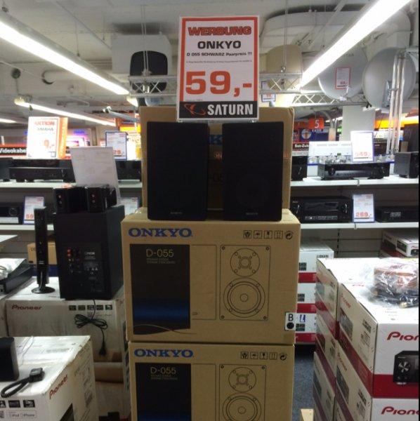 Saturn Trier - Onkyo D-055 Kompaktlautsprecher schwarz 59€ Paarpreis besseres gibts nicht fürs Geld!