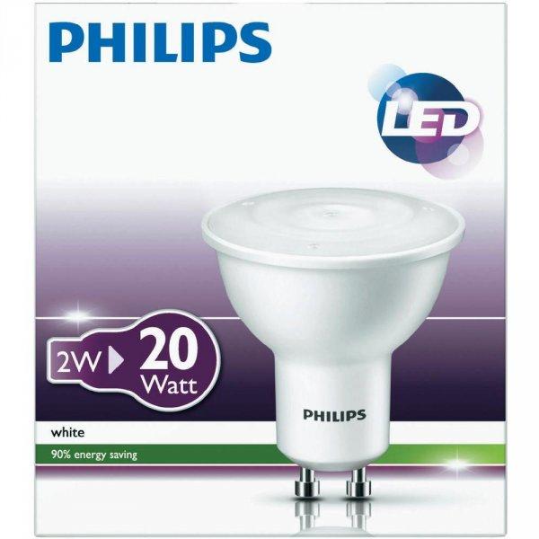 13x LED Philips 220 - 240 V GU10 2W ca 1,53€ Stück