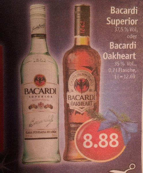 {Regional Nordwesten} Bacardi + Bacardi Oakheart 0,7l 8,88€ SkyXXL