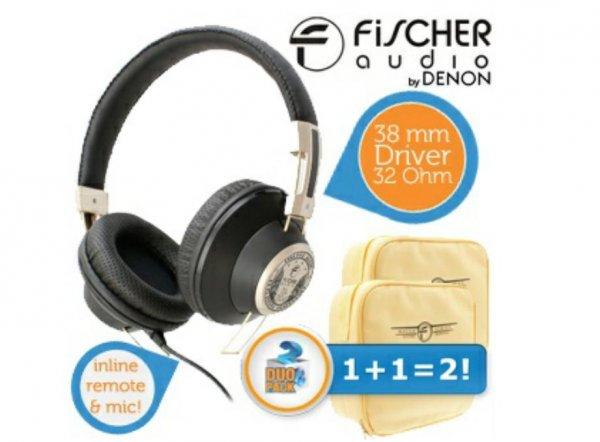 ProduktlisteMein iBOODDuopack Fischer Audio FA-004 v2 Black Over-Ear-Kopfhörer mit Inline-Fernbedienung und Mikrofon