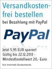 Conrad - Keine Versandkosten bei Bezahlung mit PayPal! Gültig bis 22.12.13