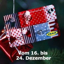IKEA Geschenk-Karte + 10% BUNDESWEIT