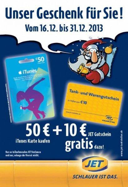 50 Euro Ituneskarte kaufen und einen 10 Euro Jetgutschein bekommen