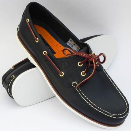 Timberland Men's Classic 2 Eye Blue Boat Shoe (viele Größen, Vergleichspreis 90€+) [amazon.uk mit Fashion Gutschein]