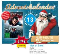 Man of Steel DVD 7,99  BD 9,99 3D-BD 19,99 @ Müller