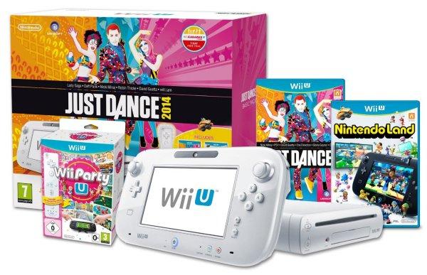 Nintendo Wii U Just Dance Party Pack mit Nintendo Land und Wii Party für 257,87€