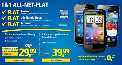 1&1 All-Net-Flat - 24 Monate für 29,99 EUR/Monat